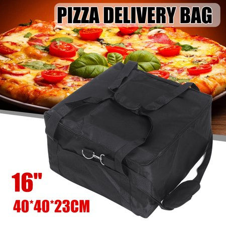 Image of 16 Inch Portable Insulated Thermal Pizza Food Pizza Delivery Bag 16.5*16.5*9.1''
