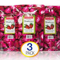 3 Pack Trader Joe's Dried Fruit Freeze Dried Strawberries Unsweetened and Uns...