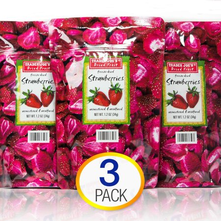 3 Pack Trader Joe's Dried Fruit Freeze Dried Strawberries Unsweetened and Uns... (Sonnenbrillen Online Uns)