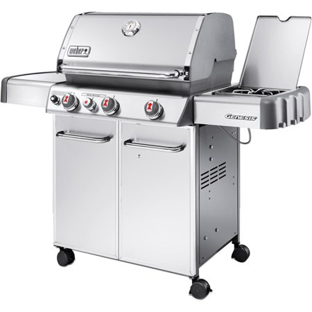 weber genesis s330 38 000 btu 3 burner lp gas grill with side burner stainless steel best gas. Black Bedroom Furniture Sets. Home Design Ideas