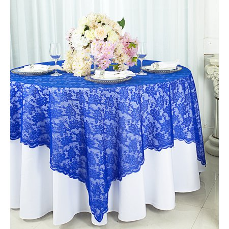 Wedding Linens Inc 72 In X 72 In Lace Table Overlays Lace