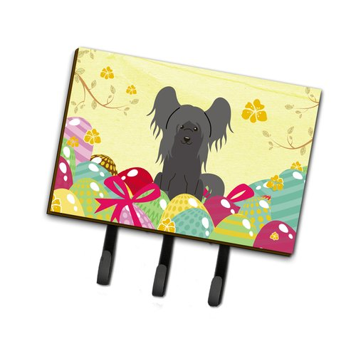 The Holiday Aisle Easter Eggs Chinese Crested Leash or Key Holder