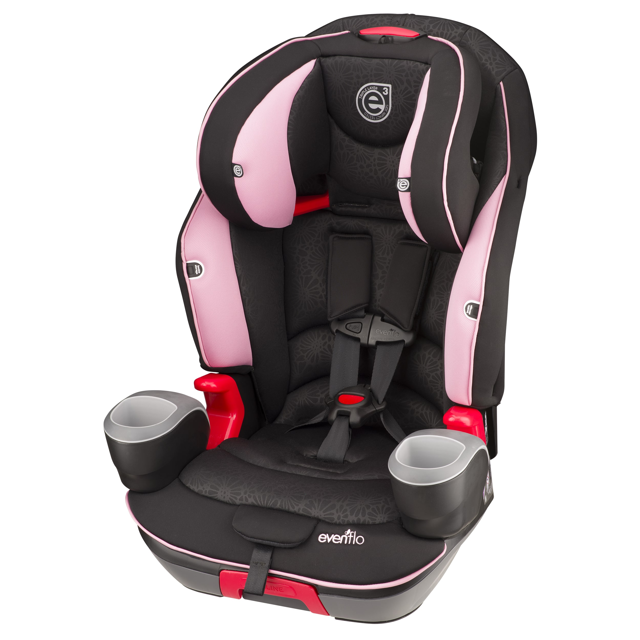 Evenflo  Evolve Booster Car Seat in Pink Daisies