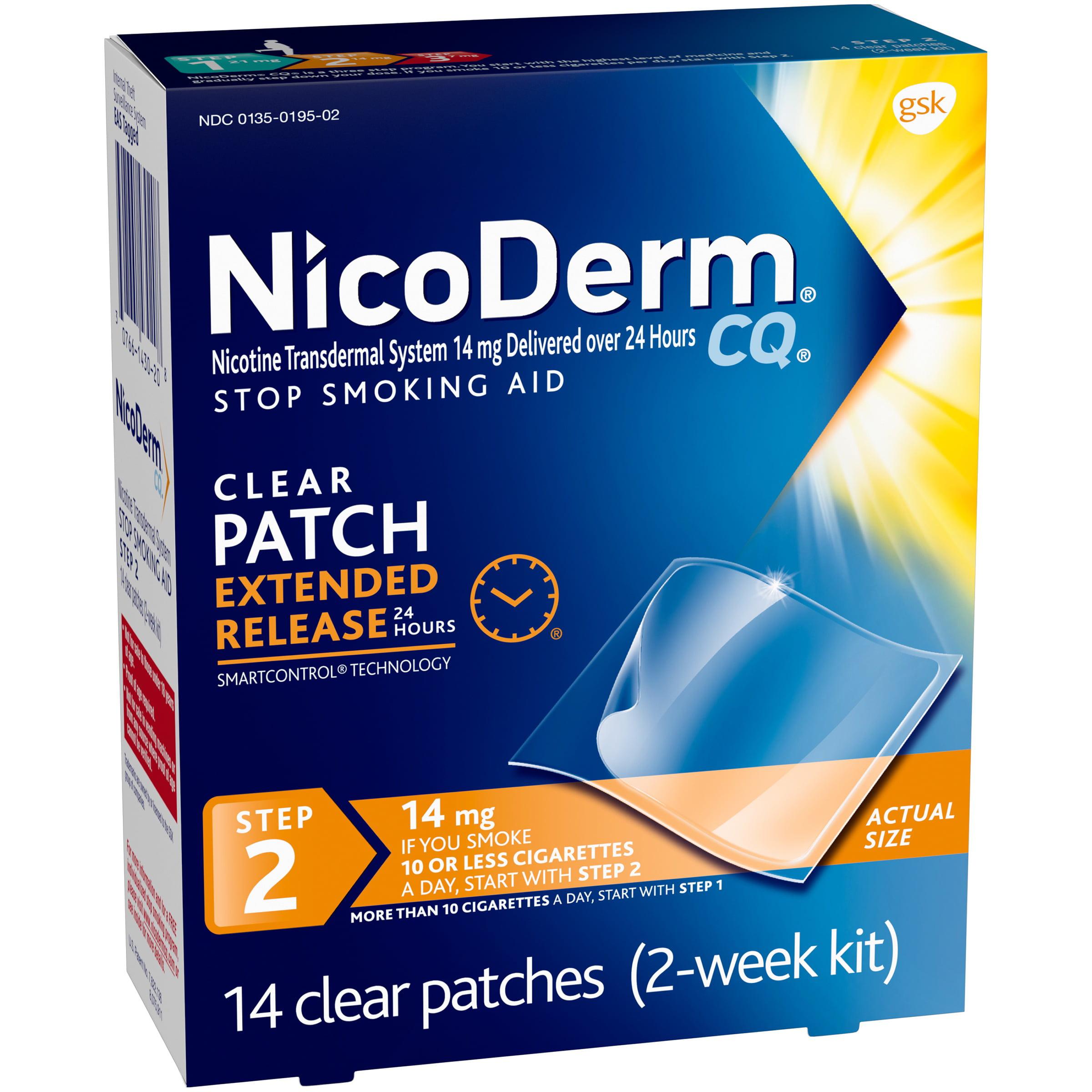 Nicoderm CQ Clear Nicotine Patch, Stop Smoking Aid, 14 mg, 14 count