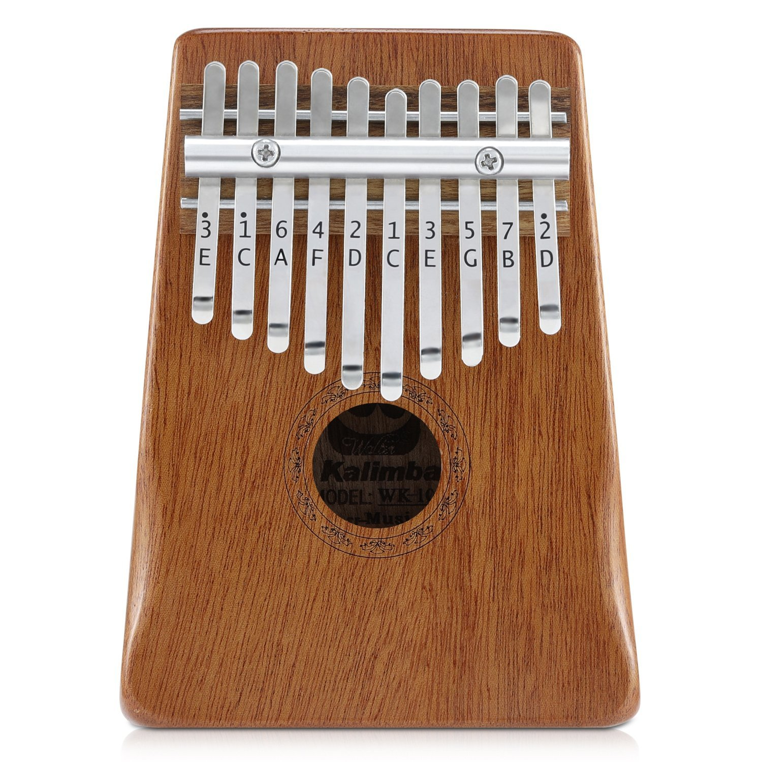 Donner Kalimba Thumb Piano Solid Finger Piano Mahogany Body