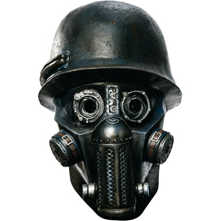 Zombie Punch (Sucker Punch Deluxe Gas Mask Zombie Overhead Latex Adult Costume)