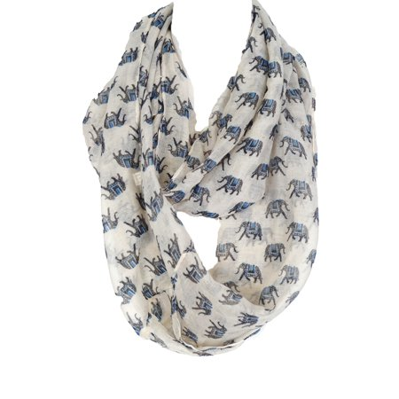 Womens Fashion Infinity Scarf - Zodaca Casual Simple Fashion Lightweight Elephant Infinity Scarf for Women Ladies