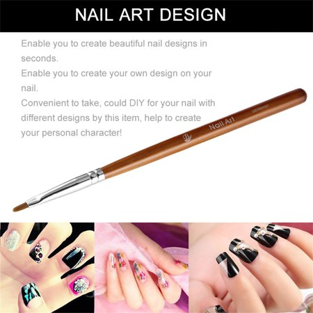 Nails Drawing Pens Nail Art Brush With Rosewood Handle For Pro