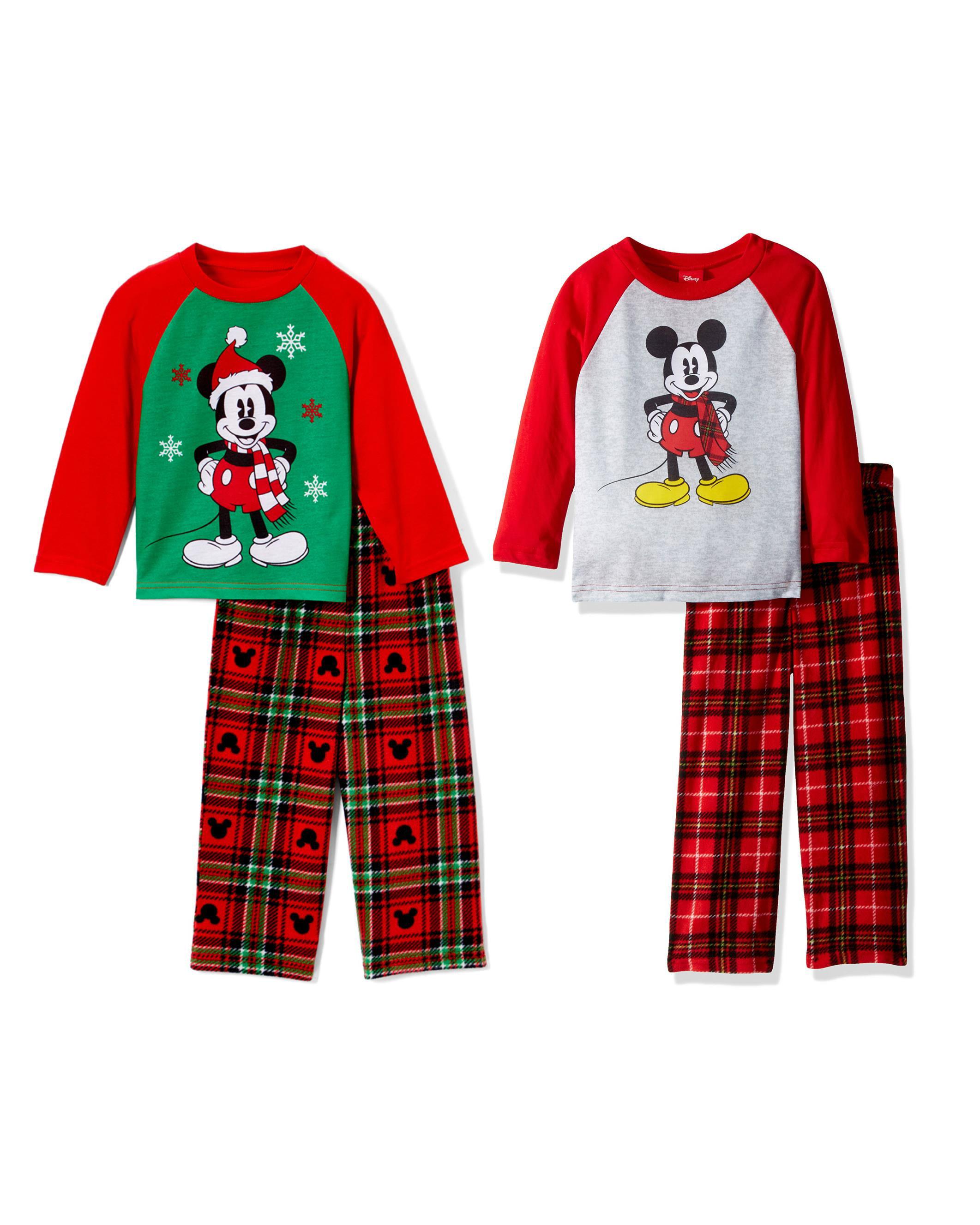 Disney Mickey Mouse Little Boys/' Toddler Cozy Fleece Pajama Set