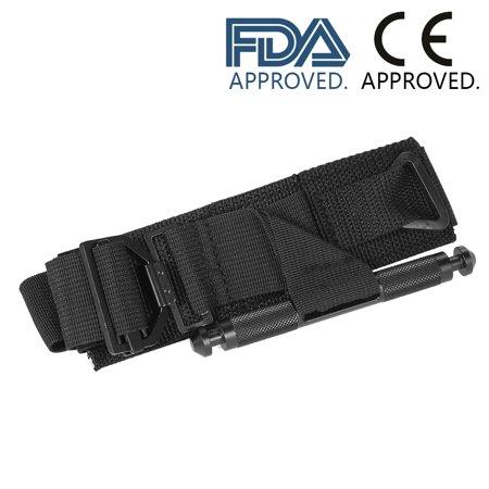 Carevas Medical Military Tactical Tourniquet W/ Aluminum Windlass One-Hand Outdoor Emergency Tourniquet First Aid Supply Hemorrhage Control FDA & CE
