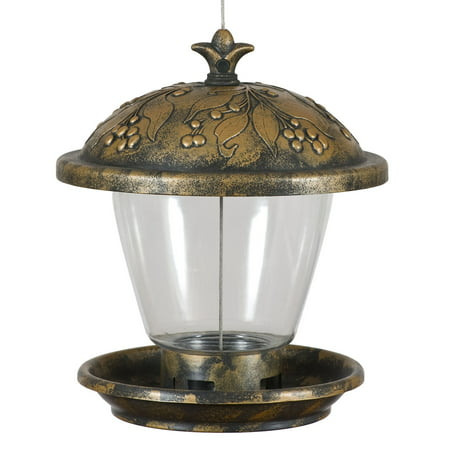 Perky-Pet Holly Berry Gilded Chalet Wild Bird Feeder ()
