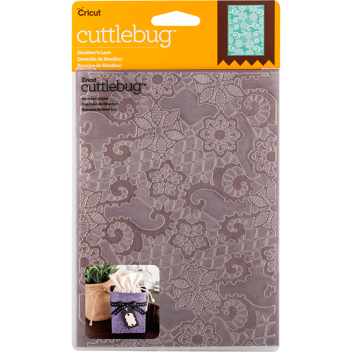 "Cuttlebug 5"" x 7"" Embossing Folder, Heather's Lace"