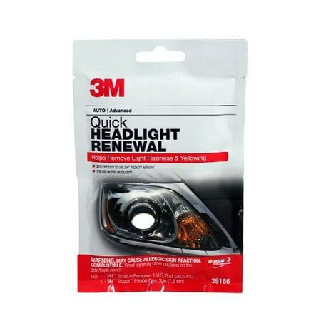 3M 39166 Auto Advanced Quick Headlight Renewal  1 Packet