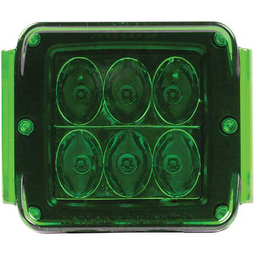 Rigid Industries Protective Polycarbonate Cover - Dually/D2 - Green