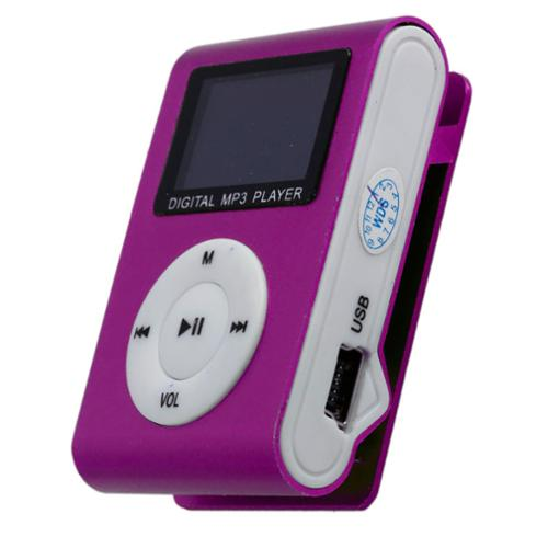 Sly Electronics 2 GB Clip-Design MP3 Digital Player & Voice Record - Pink