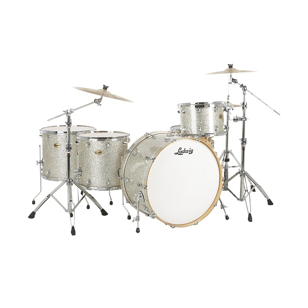 Ludwig Centennial Zep 4-Piece Shell Pack Silver Sparkle by Ludwig