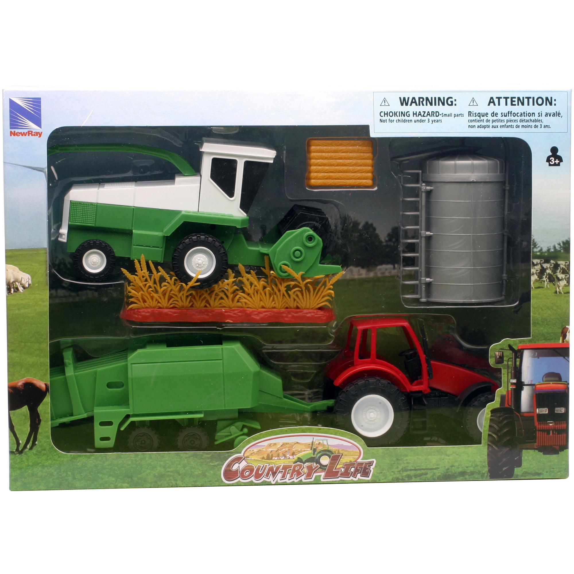Country Life Farm Tractor and Harvester Set by New-ray Toys