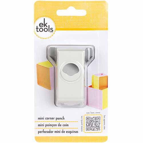 EK Tools Corner Paper Punch, Mini, Triple Multi-Colored