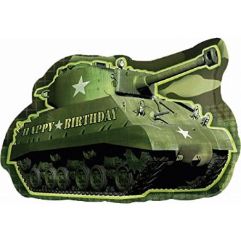 anagram international army tank birthday shape pack, 26