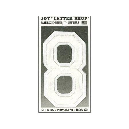 Joy applique letter iron on varsity 3quot white 8 walmartcom for Varsity letter applique