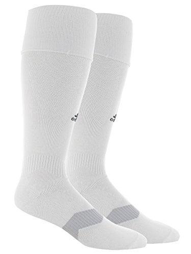 adidas Metro IV Soccer Socks, White/Black/Clear Grey, Medium