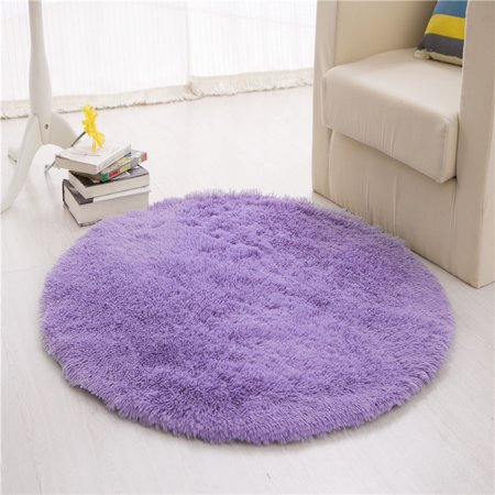 39x39 Round Anti Skid Gy Area Rugs Super Soft Fluffy Living Room Bedroom Carpet Child Play Yoga Mat Home Indoor Gateway Door