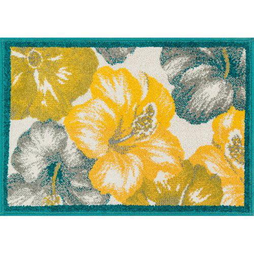 Ebern Designs Laudenslager Blue/Yellow Area Rug