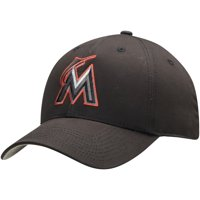Men's Black Miami Marlins Basic Adjustable Hat - OSFA