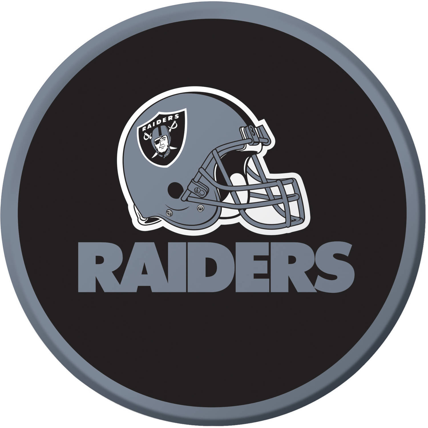 Oakland Raiders Dessert Plates, 8-Pack
