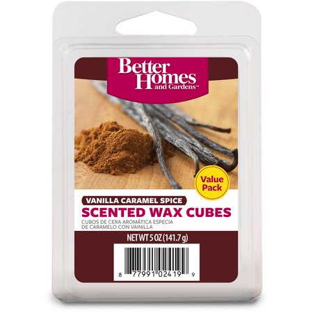 better homes and gardens value wax cubes vanilla caramel spice