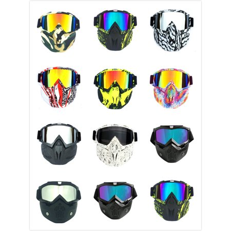 Winter Snow Sport Goggles Ski Snowboard Snowmobile Face Mask Sun Glasses Eyewear (Matte Black Frame and Colorful (Sun Ski Sports Coupon)