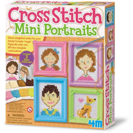 M Cross Stitch Craft Sewing Kit Mini Portraits