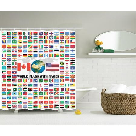 World Country Flag Name American USA Canada Globe Earth Education ...
