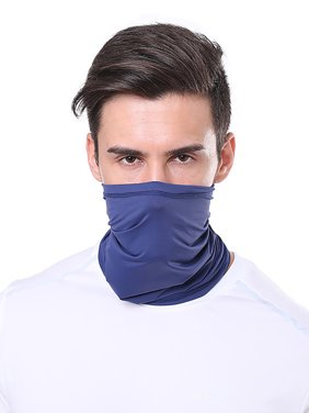 Selfieee Adult Safety Seamless Face Mask Bandanas Headband Rave Festival Mask for Adult 00029 Navy Blue