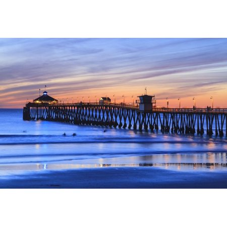 Imperial Beach Pier at Twilight, San Diego, Southern California, USA Print Wall Art By Stuart Westmorland ()