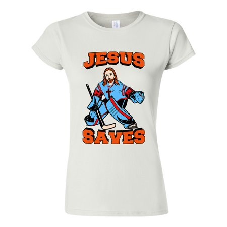 City Shirts - Junior New Jesus Saves Hockey Jersey Puck Sports Funny DT T- Shirt Tee - Walmart.com fab72f9846d