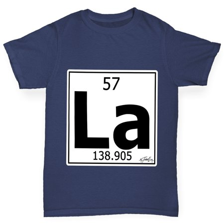 Boys T Shirt Periodic Table Element La Lanthanum Funny Tee Shirts