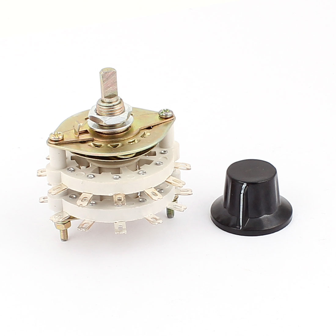 6mm D Shaft 2P11T 2 Pole 11 Position Ceramic Band Channel Rotary Switch Selector - image 2 of 2