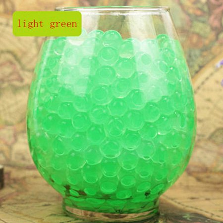 Pack of 100 PCS Wedding Crystal Water Bubble Bead Used for Sensory Toys and Décor, Orbeez refill, Vase Filler, Soil, Plant decoration, Bamboo Plants (Green)