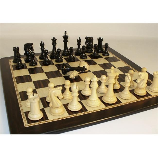 WW Chess 42CEDQ-EBM Chetak Ebony Double Queen-Birdseye Board by WW Chess