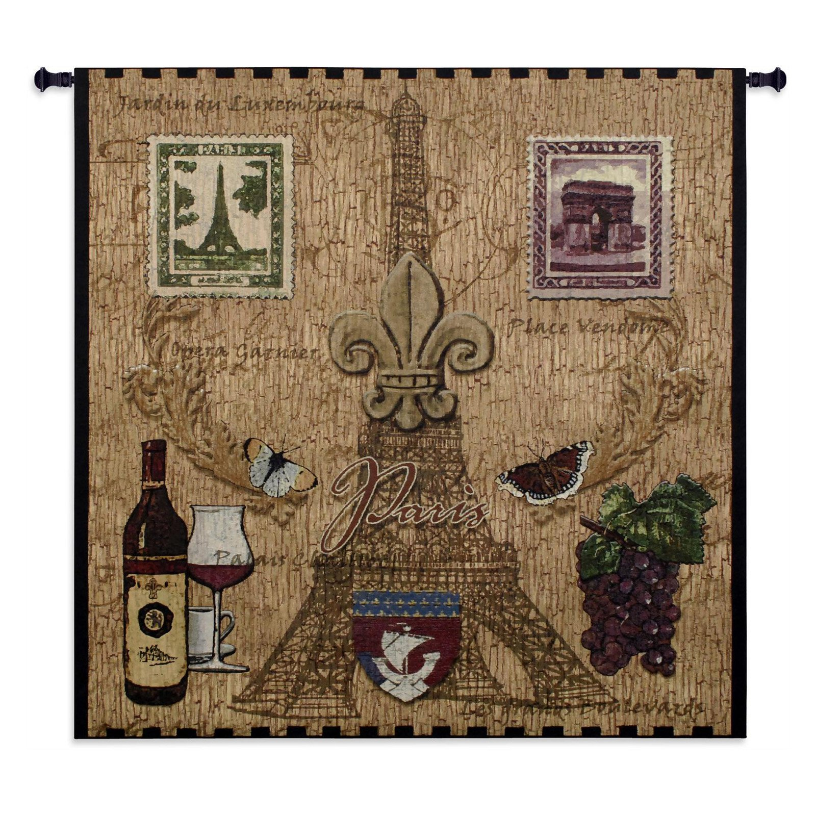 Click here to buy Fine Art Tapestries Paris With Love Wall Tapestry by Supplier Generic.