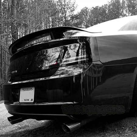 New Dodge Charger Murdered Out Taillamp Covers Tinted Taillight Overlays