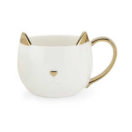mug, Chloe White Cat insulated funny tea cute ceramic coffee mug - White Coffee Mugs