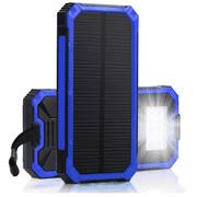 Waterproof 500000mAh 2 USB Portable Solar Battery Charger Solar Power Bank