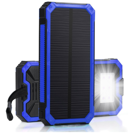 Waterproof 500000mAh 2 USB Portable Solar Battery Charger Solar Power