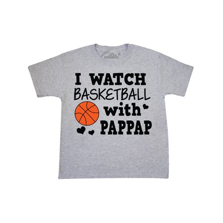 I Watch Basketball with Pappap Youth T-Shirt
