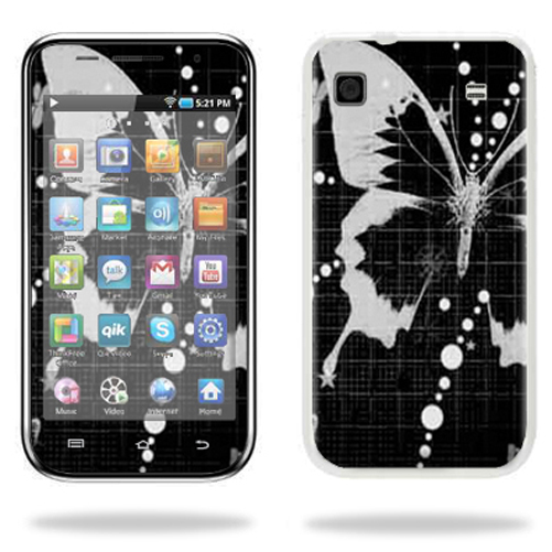 Skin Decal Wrap cover for Samsung Galaxy 4.0 MP3 Black Butterfly