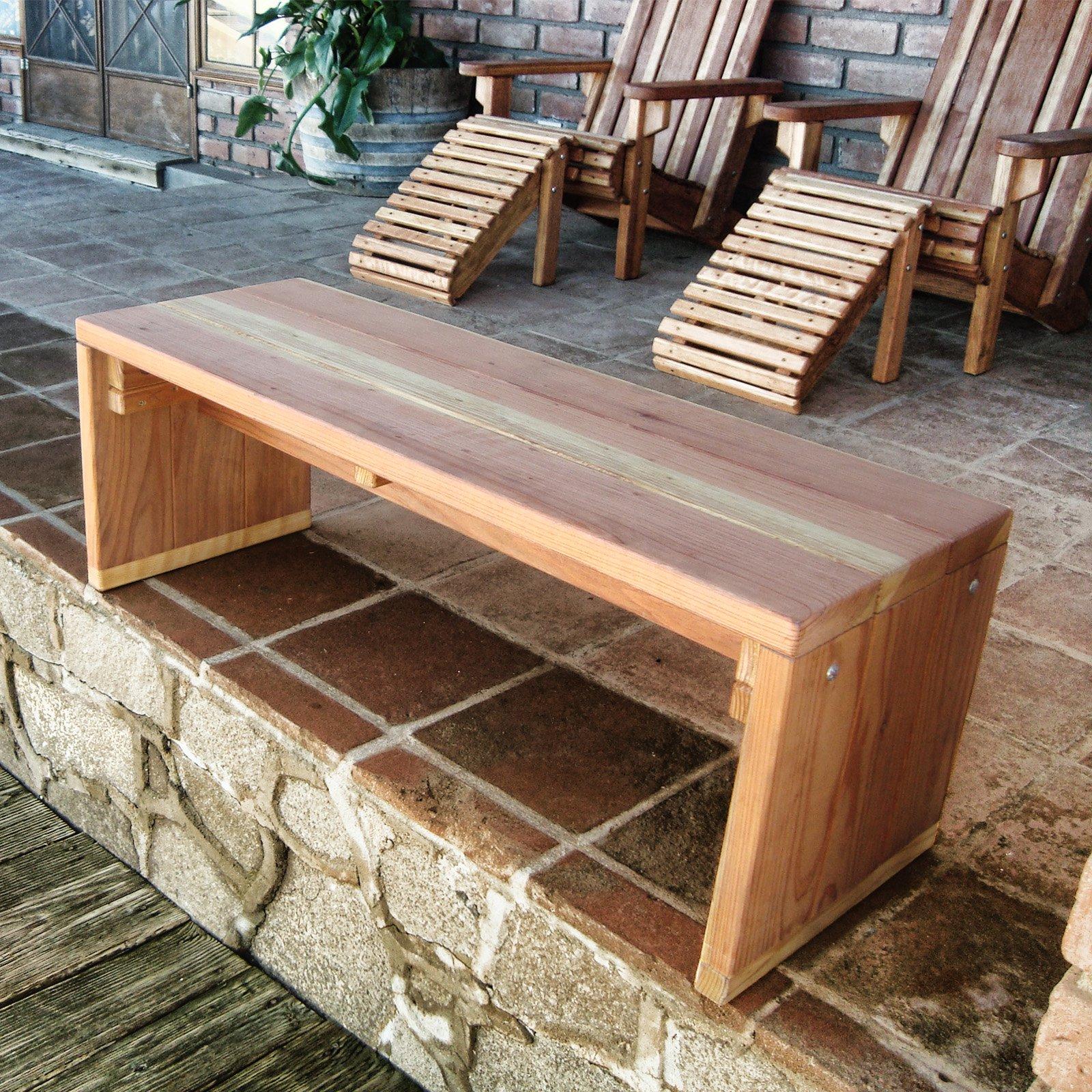 Delicieux Best Redwood Solid Backless Garden Bench   Walmart.com