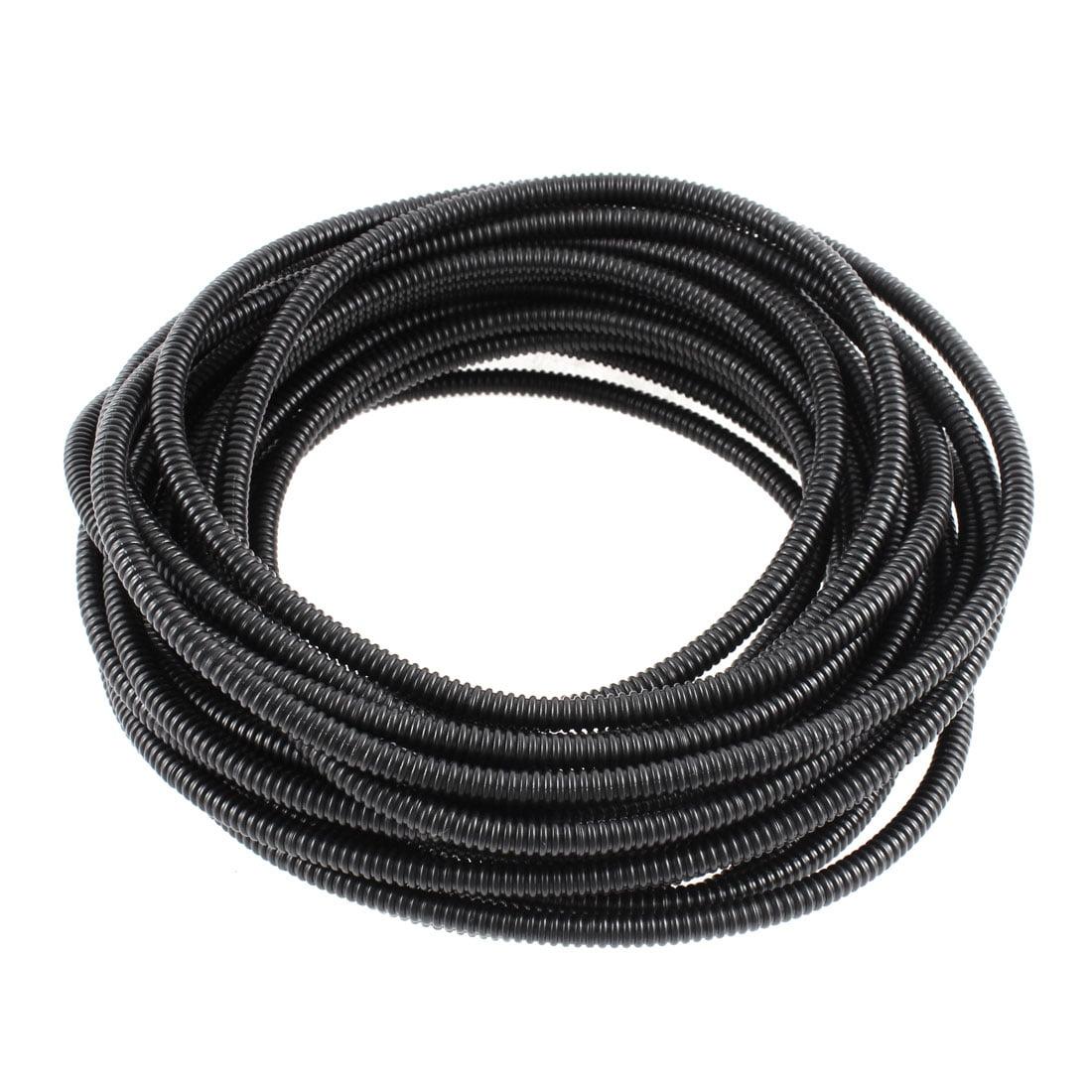 Flexible PVC 7mm Outer Dia Corrugated Tubing Conduit Tube Pipe 11M 36ft Long