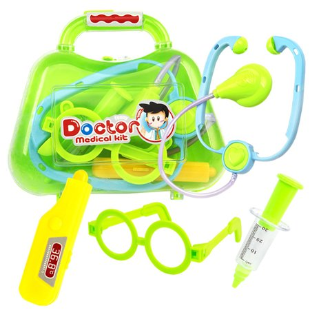 Exquisite Simulate Play-House Toy Doctor Medical Play Set Educational Toy Birthday Halloween Christmas Gift 4 pieces of body temperature green blue mixed](Halloween Mixed With Christmas)